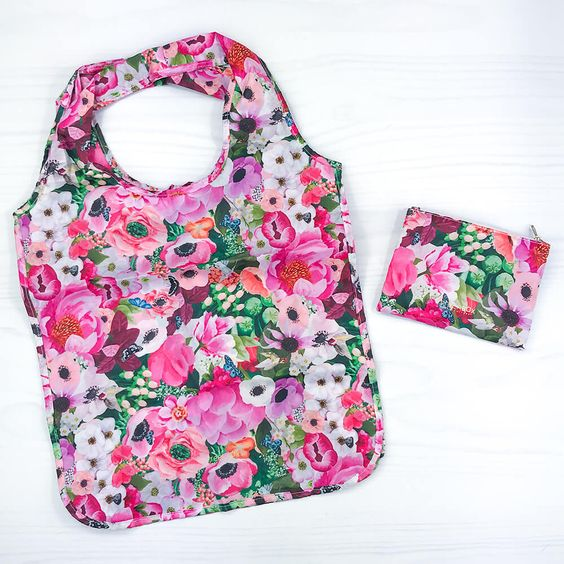 Haute House Floral Reusable Shopping Bag