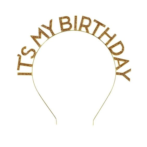 Luxe Gold Happy Birthday Headband