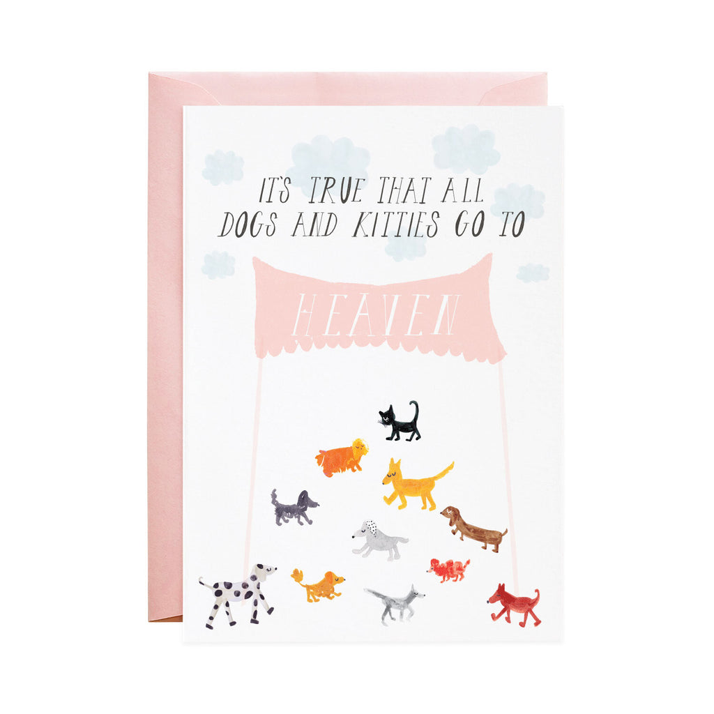 Doggies in Heaven Greeting Card