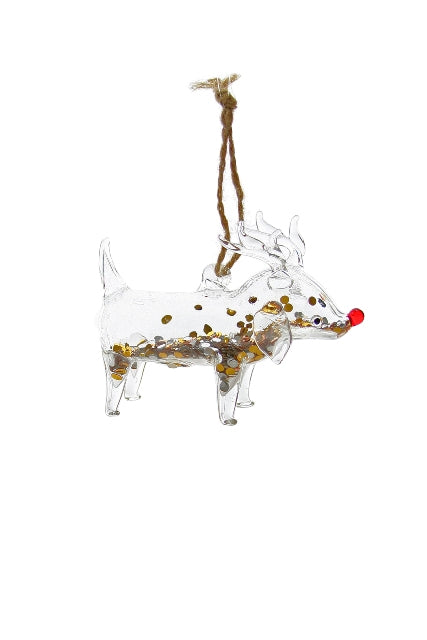 Party Animal Reindog Ornament