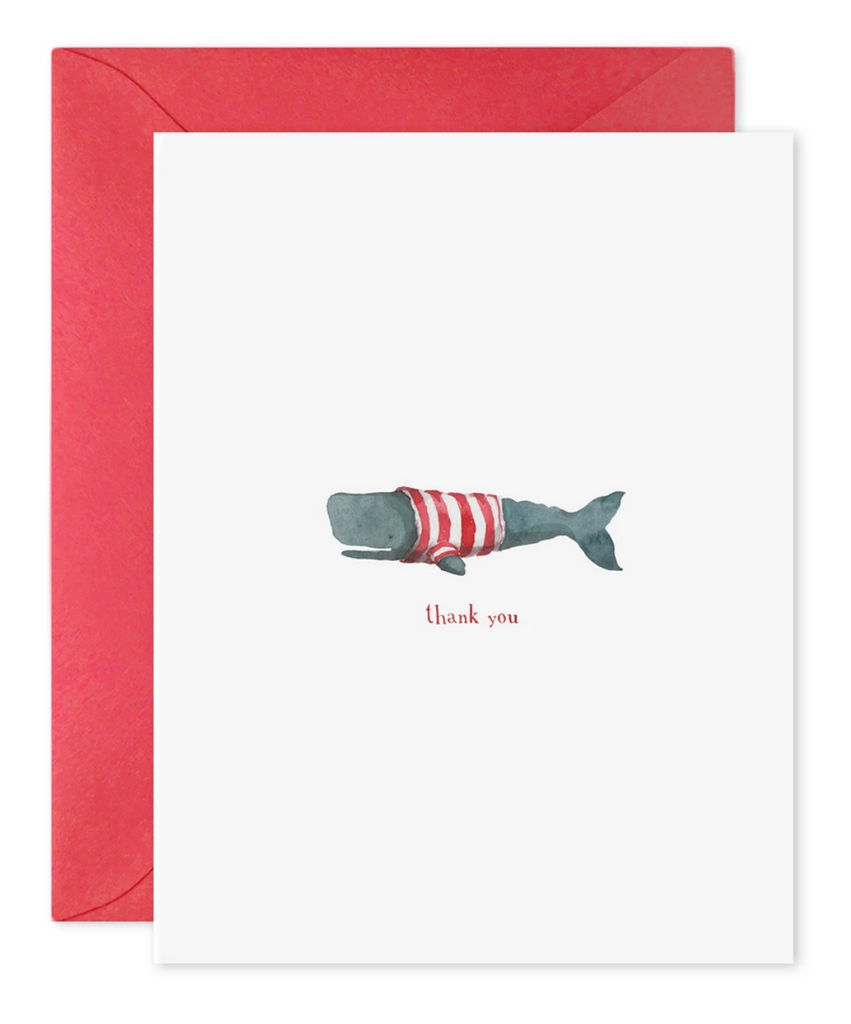 Thank You Whale Greeting Card