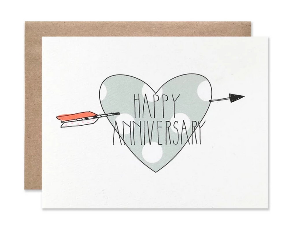 Happy Anniversary Heart Card