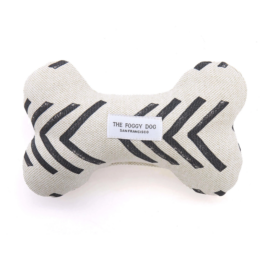Cloth Dog Bone Squeaky Toy - Modern Mud