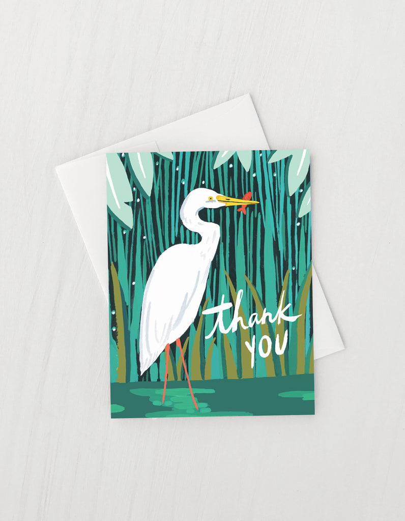 Thank You Egret Greeting Card