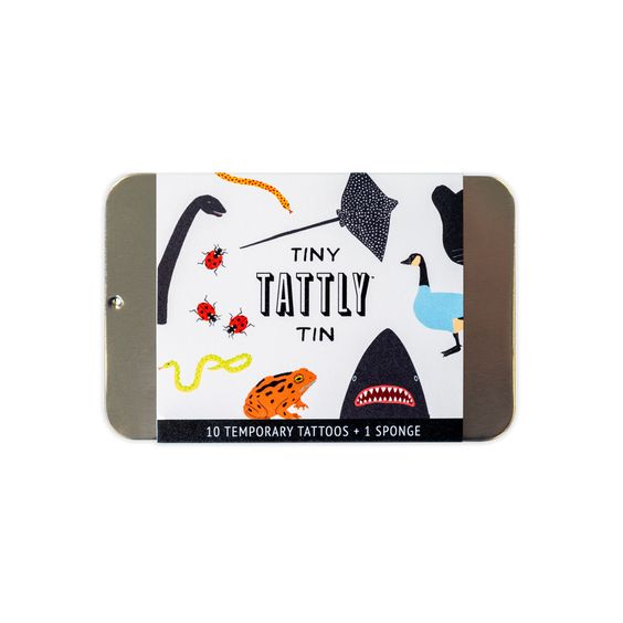 Animal Tiny Tattly Tin of Temporary Tattoos