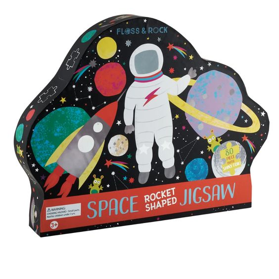 Space Rocket Jigsaw Puzzle - 80 pcs