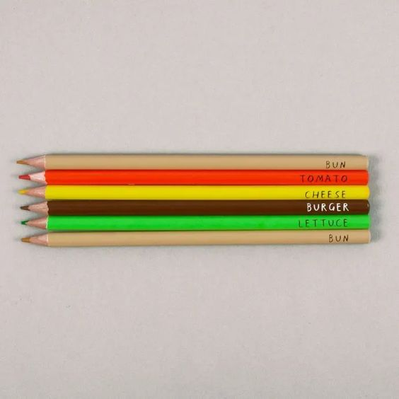 Burger Coloring Pencils