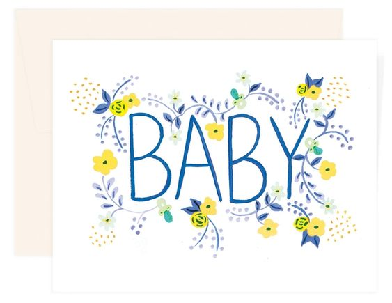 Blue Baby Greeting Card