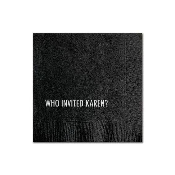 Karen Cocktail Napkin