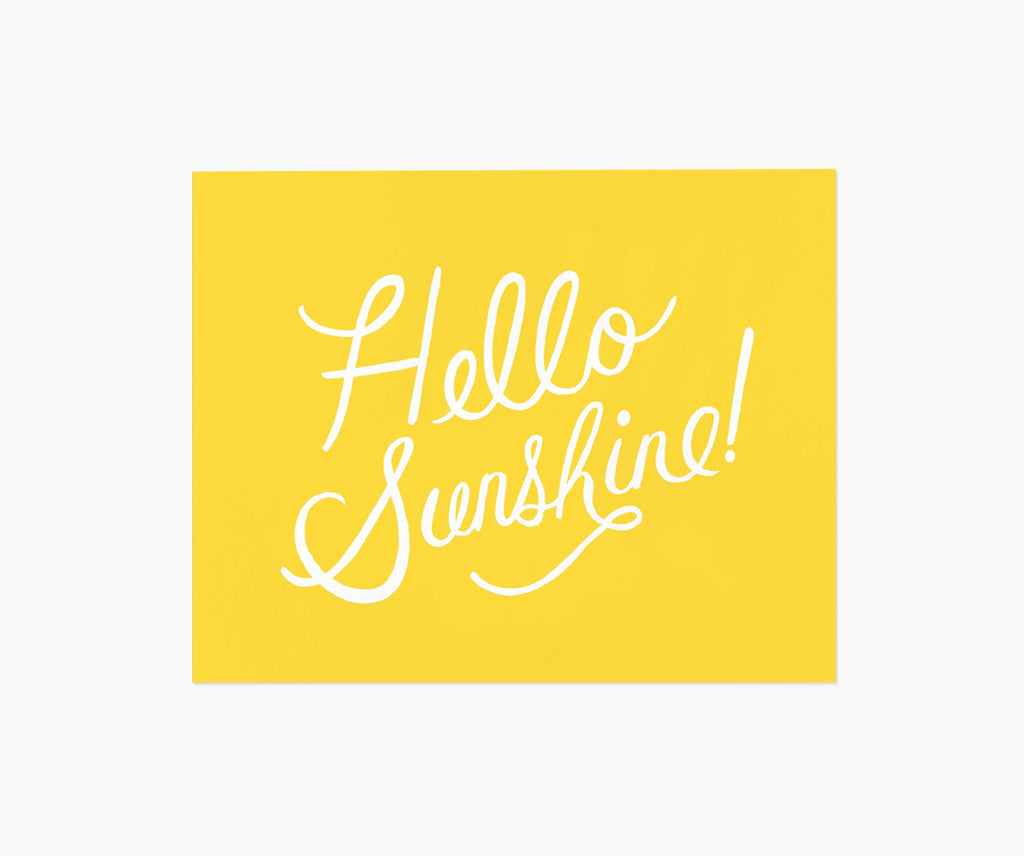 Hello Sunshine Art Print 8 x 10