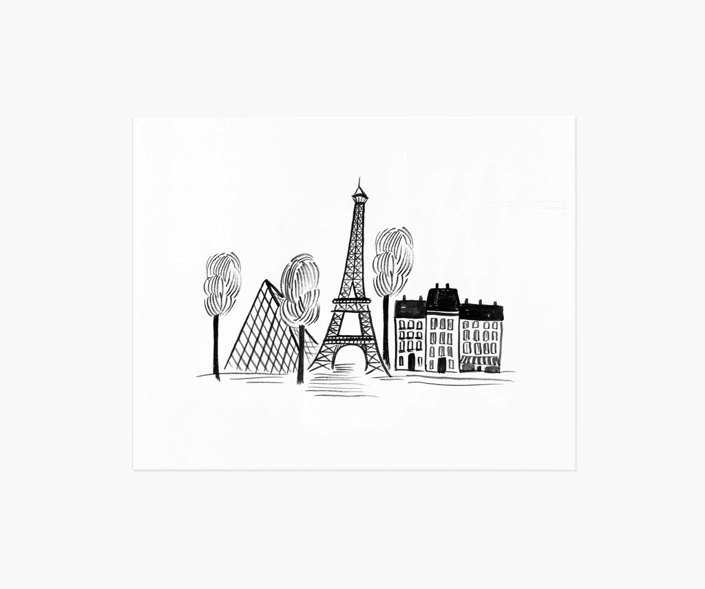 Paris Sketch Art Print 8 x 10