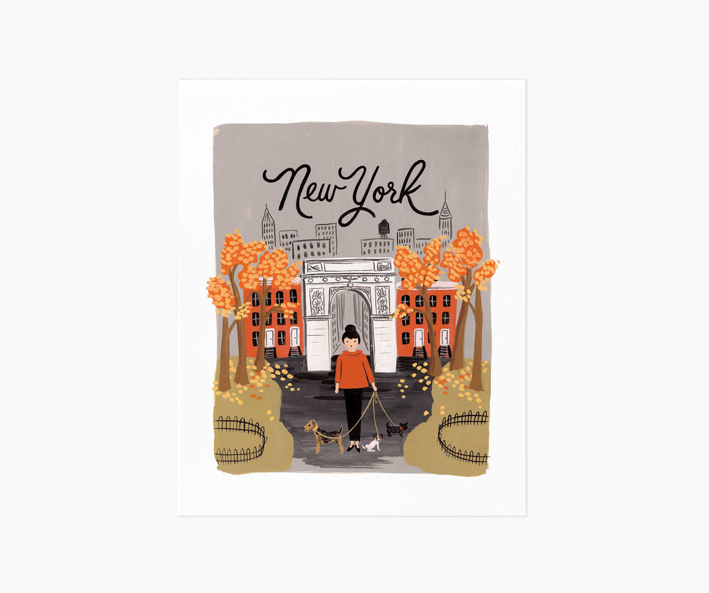 New York Autumn Art Print 11 x 14