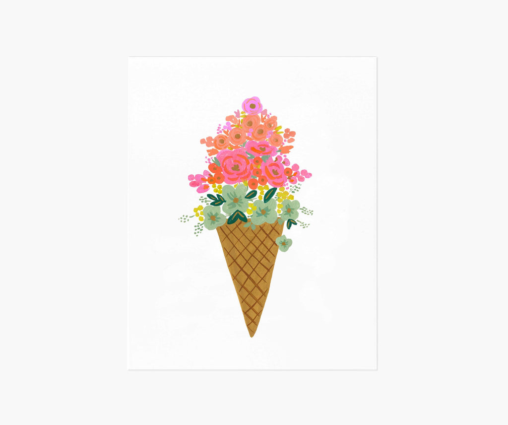 Ice Cream Art Print 8 x 10