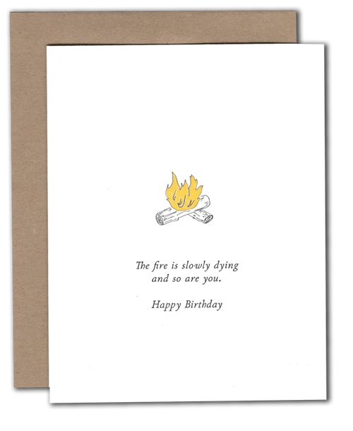Dying Fire Birthday Card