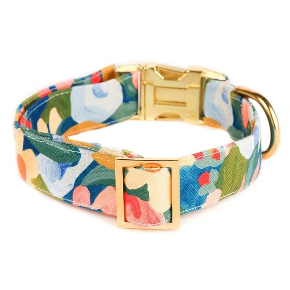 Wildflower Dog Collar - Medium