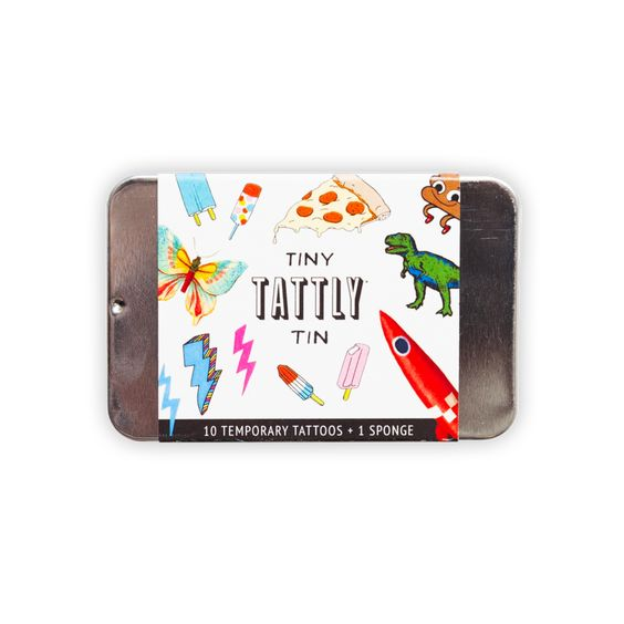 Funner Tiny Tattly Tin of Temporary Tattoos