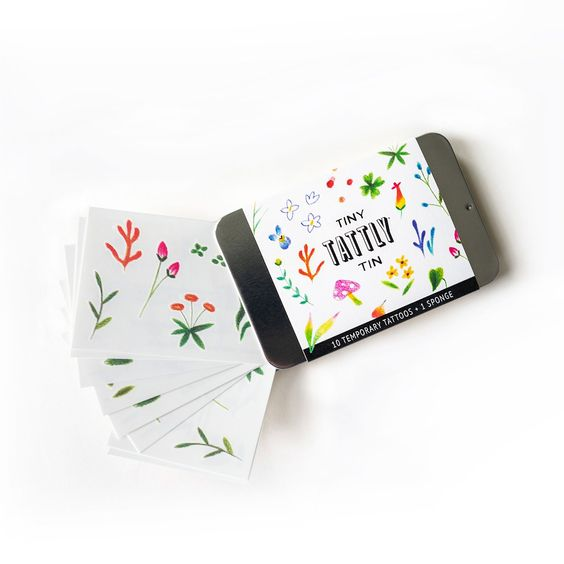 aginary Garden Tiny Tattly Tin of Temporary Tattoos