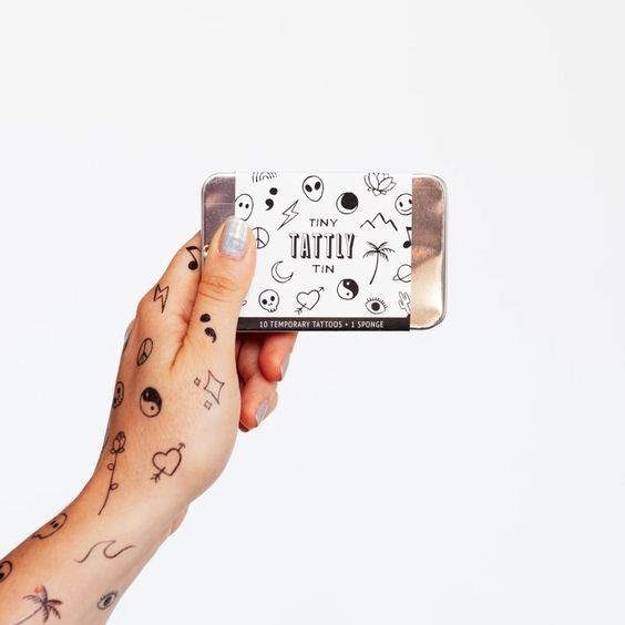 Flash Art Tiny Tattly Tin of Temporary Tattoos