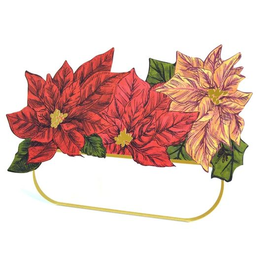 Poinsettia Place Card