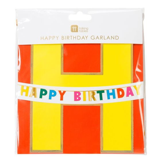 Rainbow Bright Happy Birthday Garland