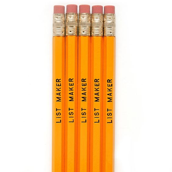 List Maker Pencils
