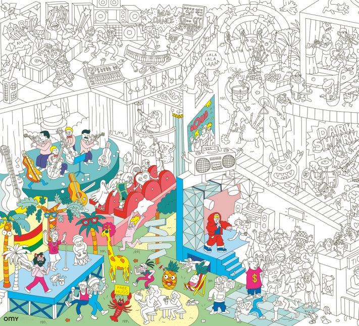 Giant Coloring Poster - Music