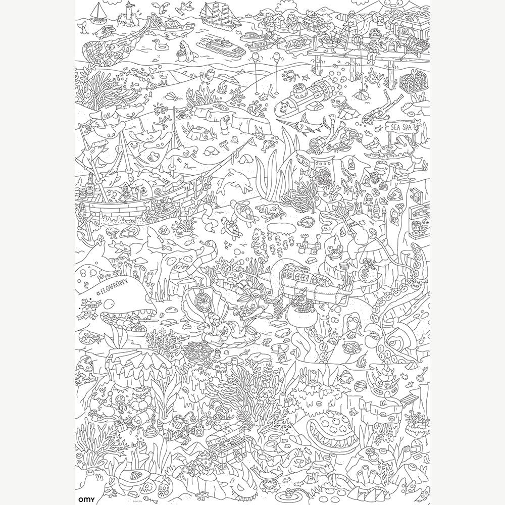 Giant Coloring Poster - Ocean