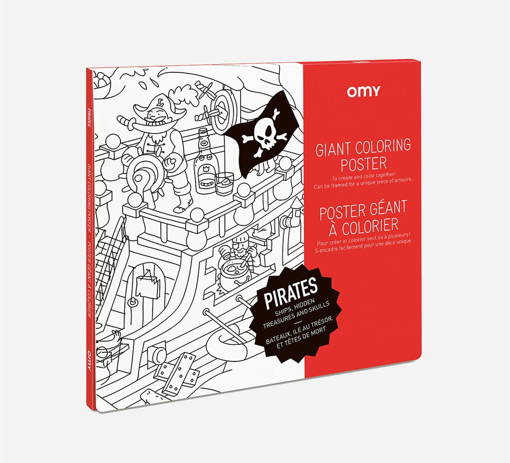 Giant Coloring Poster - Pirates
