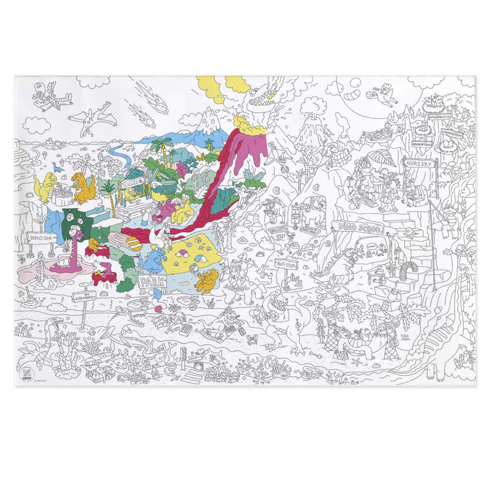 Giant Coloring Poster - Dinos