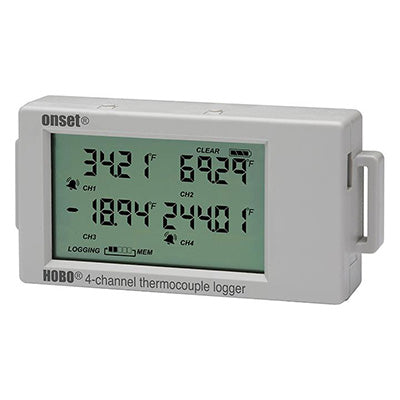 HOBO 4-Channel Thermocouple Data Logger – UX120-014M