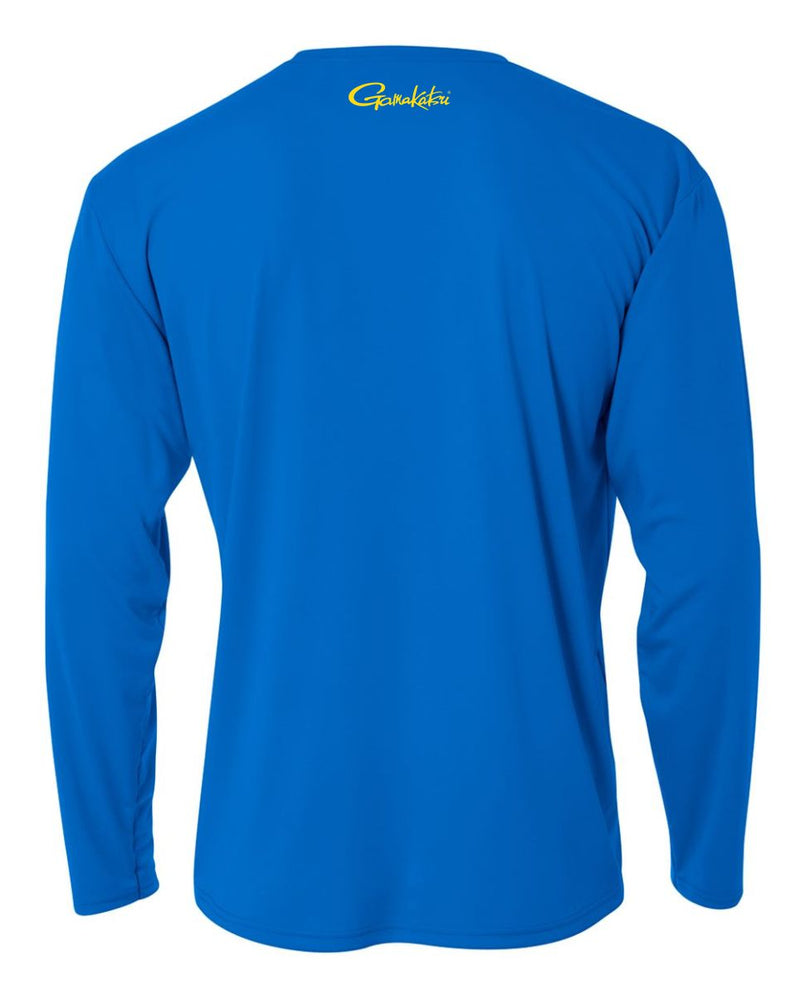 GAMAKATSU PERFORMANCE SHIRT LONG SLEEVE BLUE