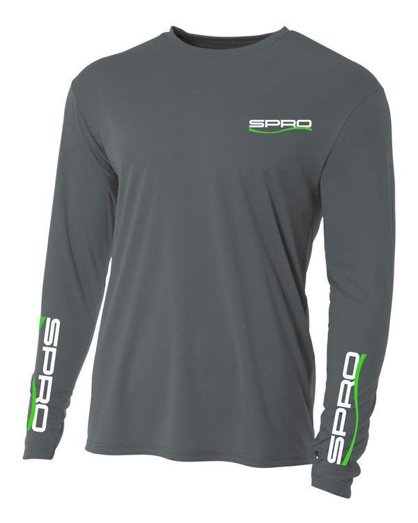 PERFORMANCE SHIRT LONG SLEEVE GRAPHITE