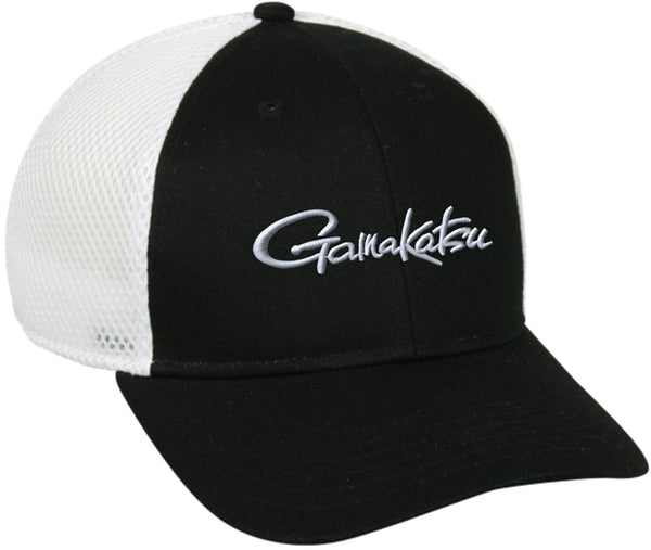 GAMAKATSU TRUCKER MESH CAP – BLACK WITH WHITE MESH