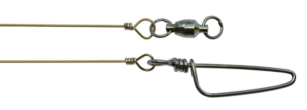 "MONO WIRE LEADER-BALL BEARING SWIVEL-COAST LOCK SNAP (12"")"