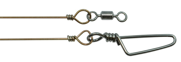 "MONO WIRE LEADER-POWER SWIVEL-COAST LOCK SNAP (10"")"
