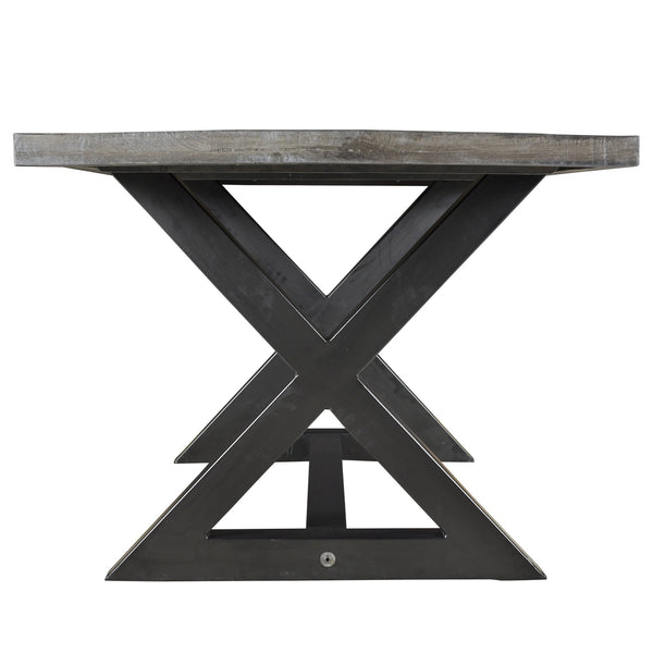 Zax Dining Table in Distressed Grey