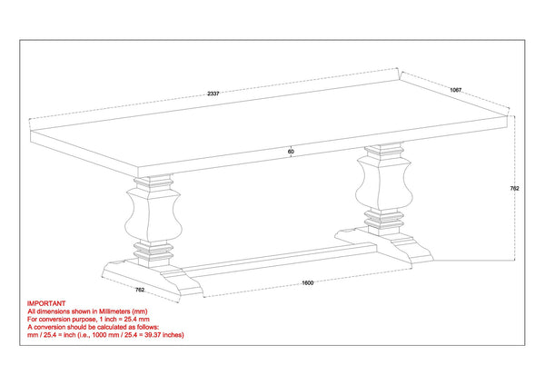 Takhur Dining Table in Grey
