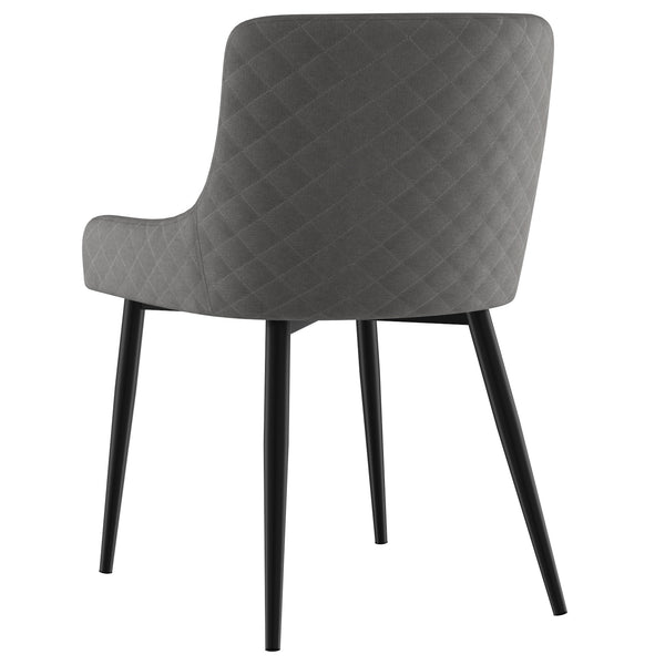 Cairn Dining Chair (Grey/ Black leg)