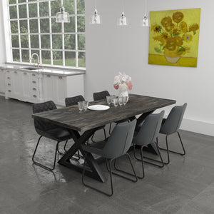 Wart 7 Pc Dining Set (Black / Vintage Charcoal)