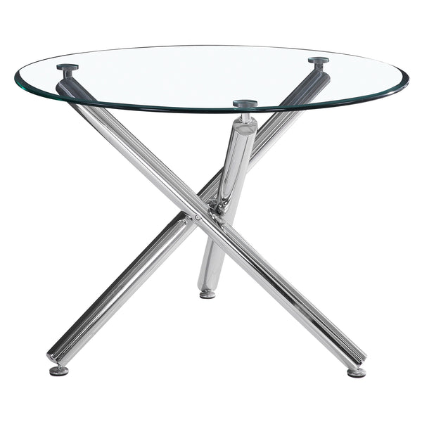 Presa / Chen 5 Pc Dining Set (Chrome / Black)