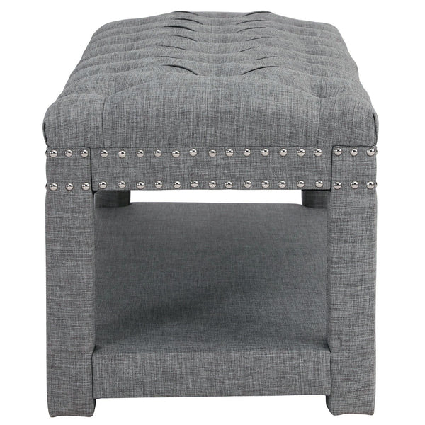 Larissa Double Bench in Light Grey
