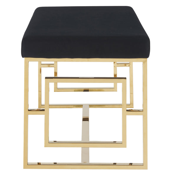 Eros Double Bench in Gold and Black