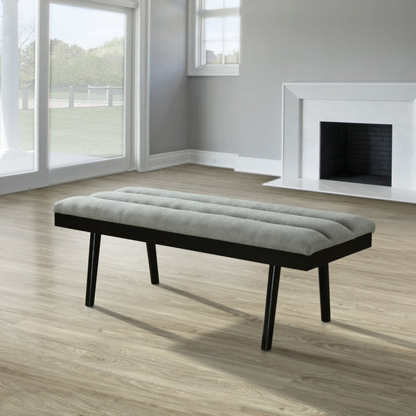 Bangalore Bench (Grey / Coffee legs)