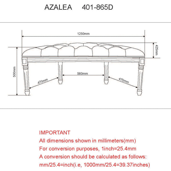Azalea Double Bench in Taupe