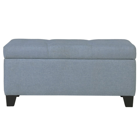 Sarah Storage Ottoman in Light Blue