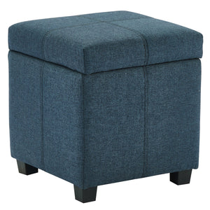 Juno Storage Ottoman in Grey and Blue