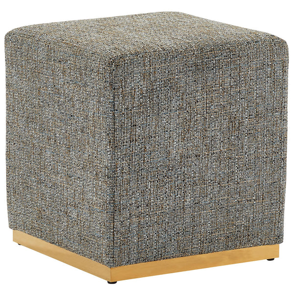 Hugo Single Ottoman in Camel Blend and Gold