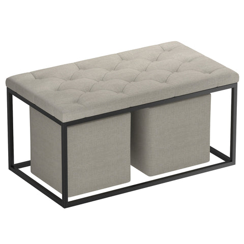 Asansol Ottoman (Light Grey)