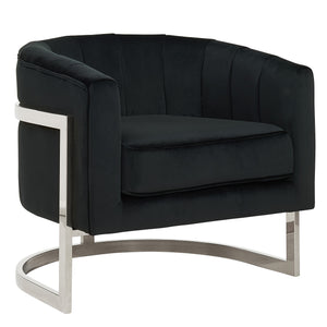 Xiphias Accent Chair (Black/Chrome)
