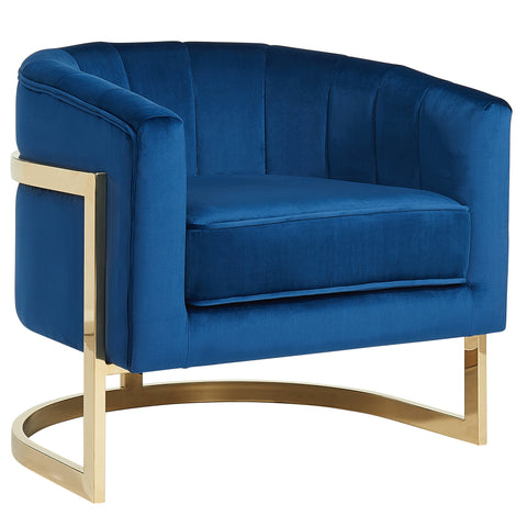 Walrus Accent Chair (Blue/Gold)